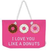 I Love You 7 Weekender Tote Bag