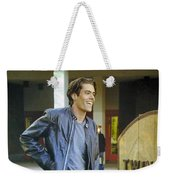 I Love You Babe Weekender Tote Bag by Luis Ludzska