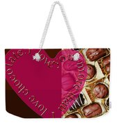 I Love You More Than I Love Chocolate 5 Weekender Tote Bag
