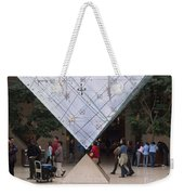 I M Pei Pyramid Inside The Louvre Entrance Weekender Tote Bag