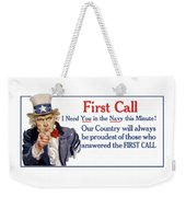 I Need You In The Navy - Uncle Sam Wwi Weekender Tote Bag