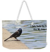 I Only Smile For Food - Kiss My Grits Weekender Tote Bag