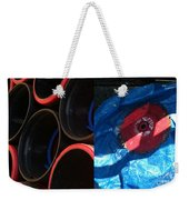 I Saw A Circular Saw Weekender Tote Bag by Marlene Burns