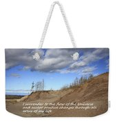 I Surrender To The Flow Of The Universe Weekender Tote Bag