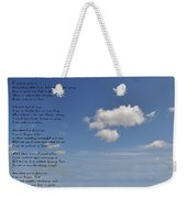 I Want To Believe Weekender Tote Bag by Bill Cannon