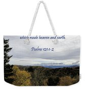 I Will Lift Up My Eyes Weekender Tote Bag