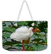 Ibis In Pond Weekender Tote Bag