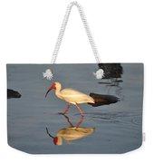 Ibis In Reflection Weekender Tote Bag