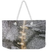 branch in ice - Madison - Wisconsin Weekender Tote Bag