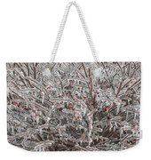 Ice Abstract 1 Weekender Tote Bag