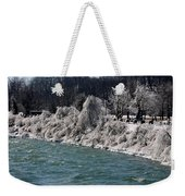 Ice Along The River Weekender Tote Bag
