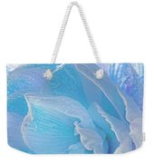 Ice Blue Amaryllis Abstract Weekender Tote Bag