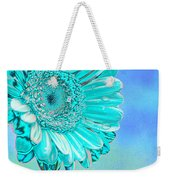 Ice Blue Weekender Tote Bag