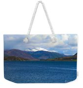 Ice Capped Mountains At Ullapool Weekender Tote Bag