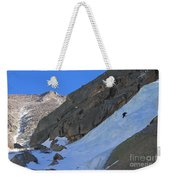 Ice Climbers In A Stark Contrast Weekender Tote Bag