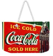 Ice Cold Coca-cola Sold Here Weekender Tote Bag