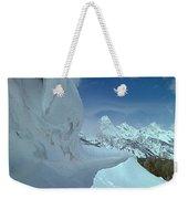 1m9340-ice Cornices, Jackson Hole Weekender Tote Bag