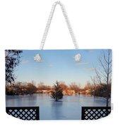 Satin Ice Covered Snow Weekender Tote Bag