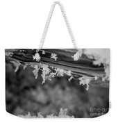 Ice Crystals Frozen In The River Weekender Tote Bag