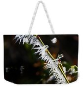 Ice Crystals In Morning Sun Weekender Tote Bag