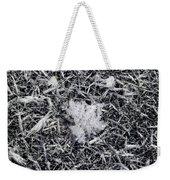 1m9343-ice Crystals On Black Ice, Tetons Weekender Tote Bag