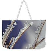 Ice Crystals On Fireweed Fairbanks  Alaska By Pat Hathaway 1969 Weekender Tote Bag