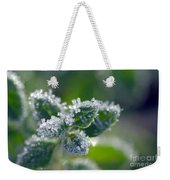 Ice Crystals With Stars Weekender Tote Bag