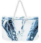 Ice Cube Splashing Into Water Weekender Tote Bag
