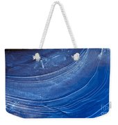 Ice Curve In Blue Weekender Tote Bag