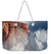 Ice Feathers Weekender Tote Bag