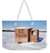 Ice Fishing Hut Weekender Tote Bag