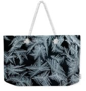 Ice-flowers Frost Pattern Tracery On Frost Window Weekender Tote Bag