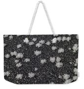 1m9335-ice Flowers On Black Ice Weekender Tote Bag