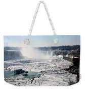 Ice Flows At Niagara Weekender Tote Bag