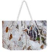 Ice Leaves Weekender Tote Bag