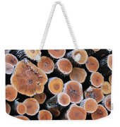 Ice Logs Weekender Tote Bag