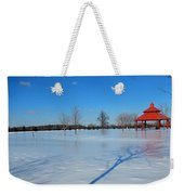 Ice On Snow Weekender Tote Bag