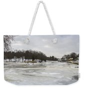 Ice On The Ipswich River Weekender Tote Bag