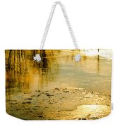 Ice On The River Weekender Tote Bag