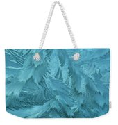 Ice Patterns Formed On Glass Weekender Tote Bag