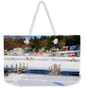 Planes On The Ice Runway In New Hampshire Weekender Tote Bag