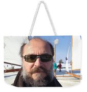 Ice Sailing On The Hudson Beard Contest Weekender Tote Bag