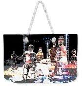 Ice Sculptured Nativity Scene Posterized Weekender Tote Bag