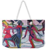 Ice Skaters  Weekender Tote Bag