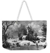 Ice Skating, 1880 Weekender Tote Bag