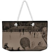 Ice Skating At Rockefeller Center In The Early Days Weekender Tote Bag