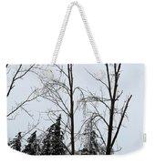Ice Storm Poplars Weekender Tote Bag