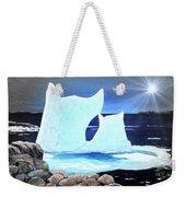 Icebergs At Sunset Weekender Tote Bag
