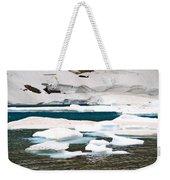 Icebergs In August Glacier International Peace Park Weekender Tote Bag