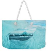 Icebergs On The Southern Beach Weekender Tote Bag